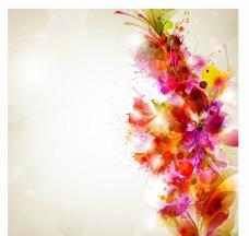 水墨夢幻花紋花朵圖片
