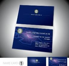 蓝色科技名片 创意名片下载 名片设计模板图片