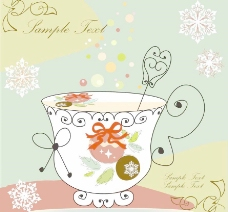 可爱花纹花朵 咖啡杯图片
