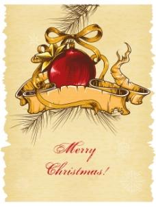 矢量复古圣诞手绘卡片