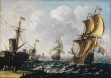 海风中的荷兰海岸图片