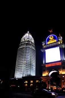 华盛江泉五星级酒店 夜景图片