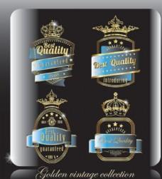 皇冠欧式标签徽章