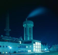 夜色 电站图片