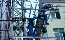 电力施工 高空作业图片