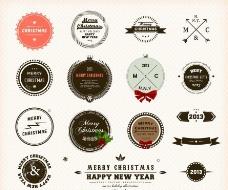 圣诞标签徽章图片